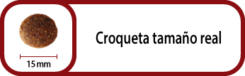 Tamaño croqueta Select Puppy Maxi 15 mm