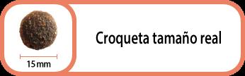 Tamaño croqueta Select Sensitive Salmon 15 mm