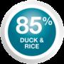 85% DUCK & RICE