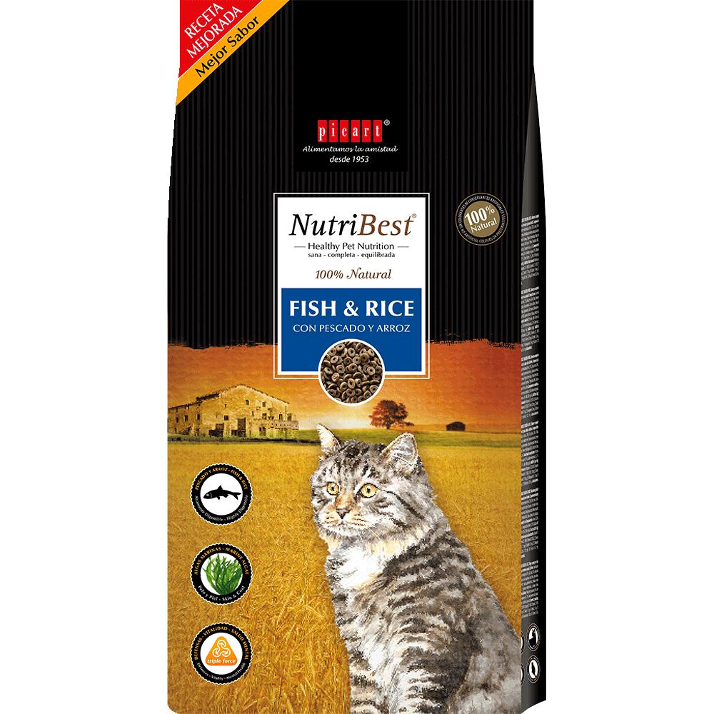 Pienso Natural Para Gatos NutriBest Cat Fish&Rice