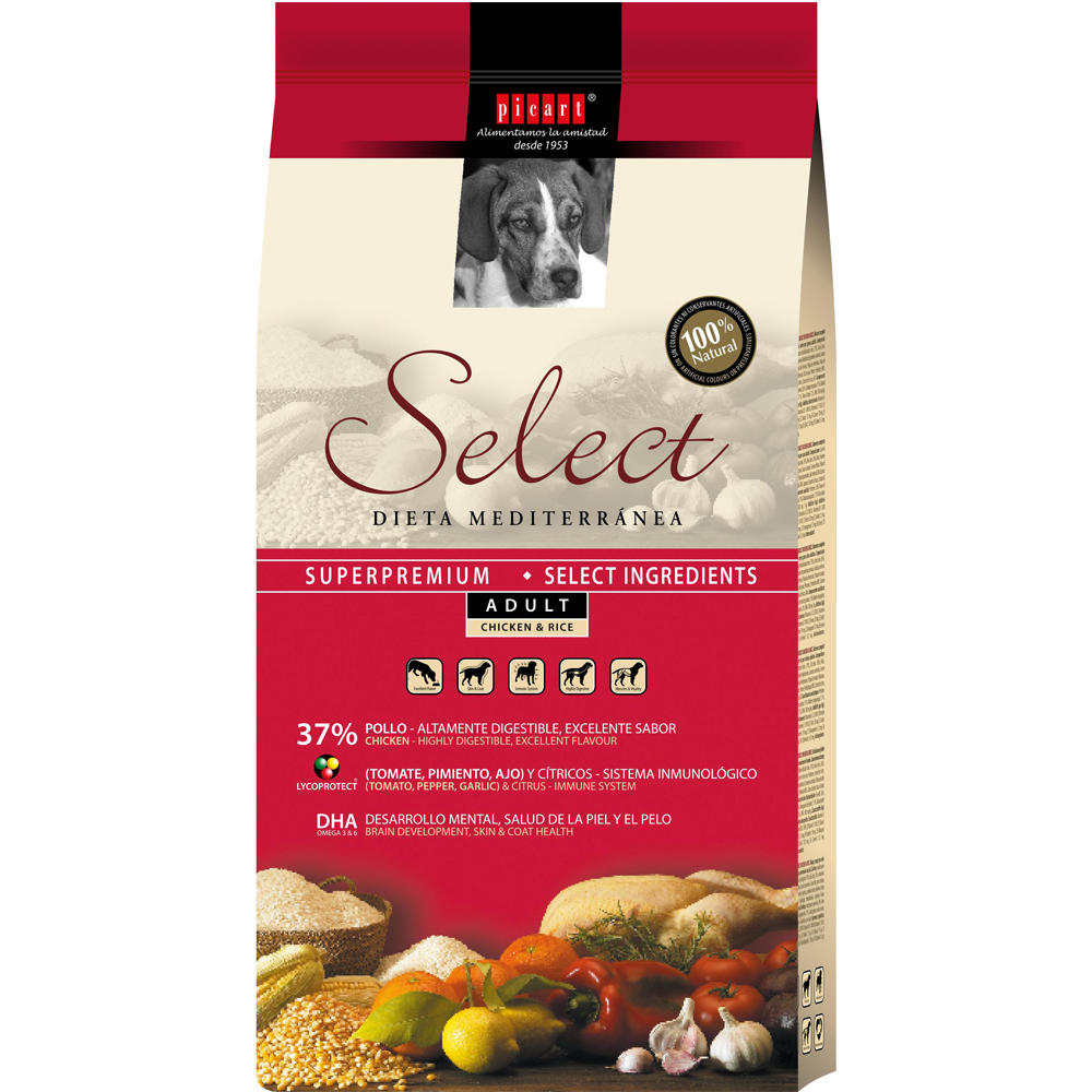 Mejor pienso para perros con Select Puppy Adult Chicken & Rice