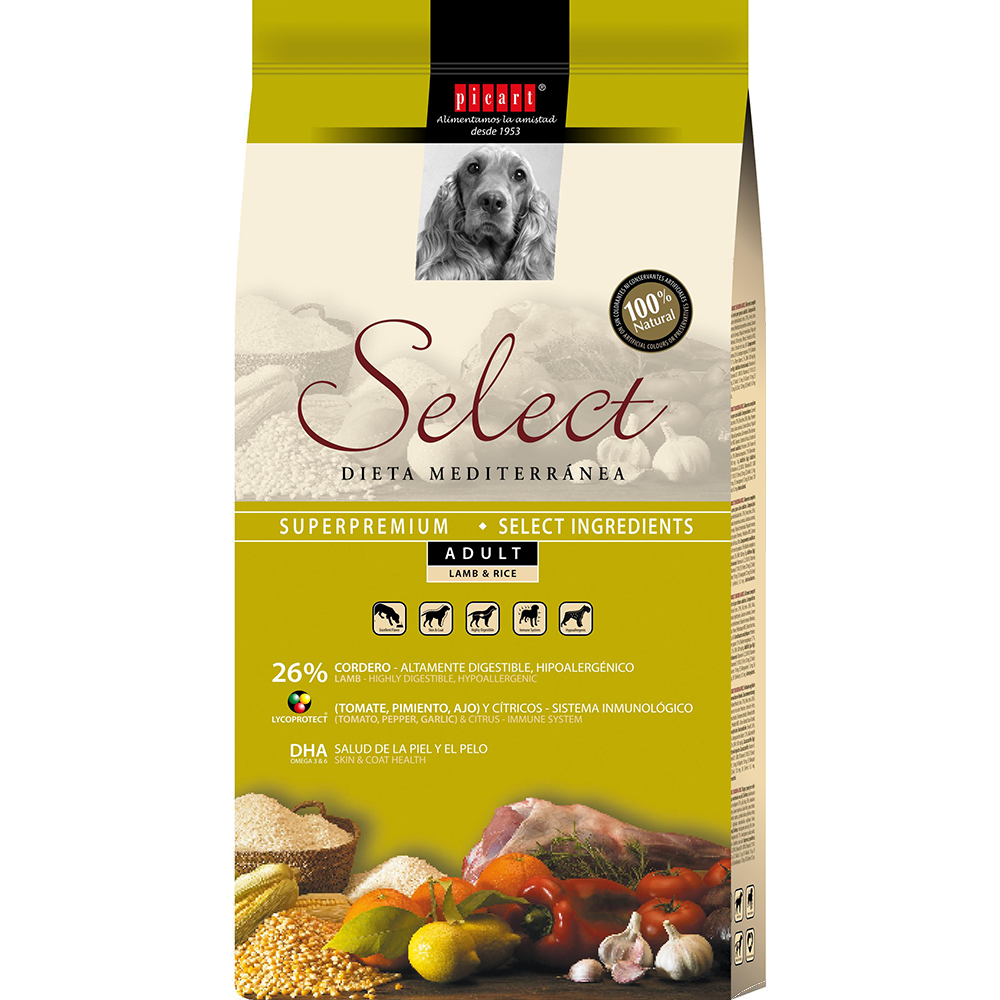 Comida natural para perros Select Adult Lamb & Rice