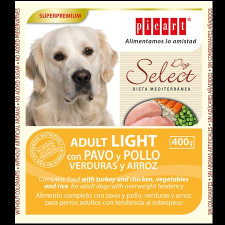 Select Dog Adult Light Con Pavo Y Pollo, Verduras Y Arroz