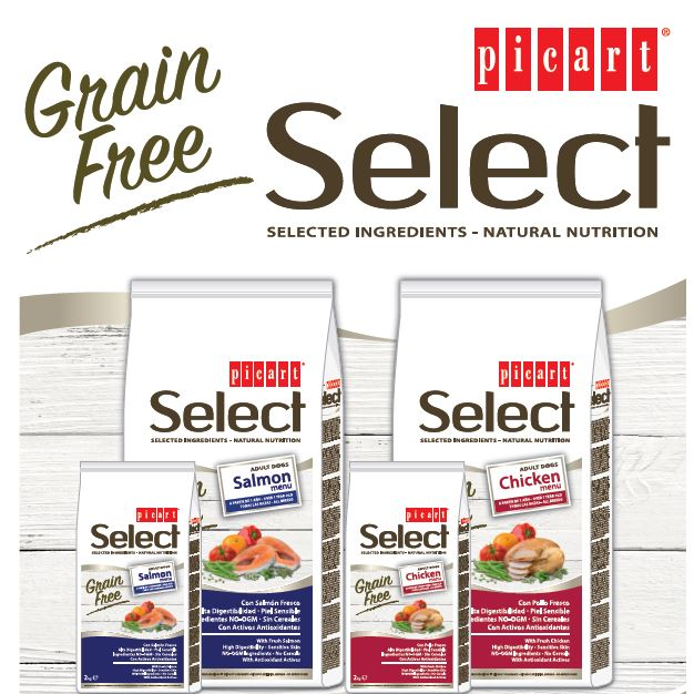 New GRAIN FREE By Picart Select Dog Adult