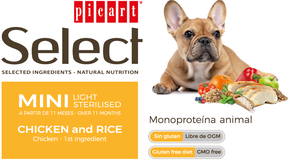 Picart Select Mini Light Sterilised Chicken & Rice
