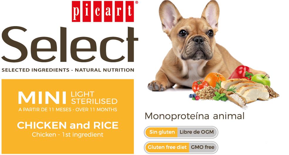 Picart Select Mini Light Sterilised Chicken & Rice