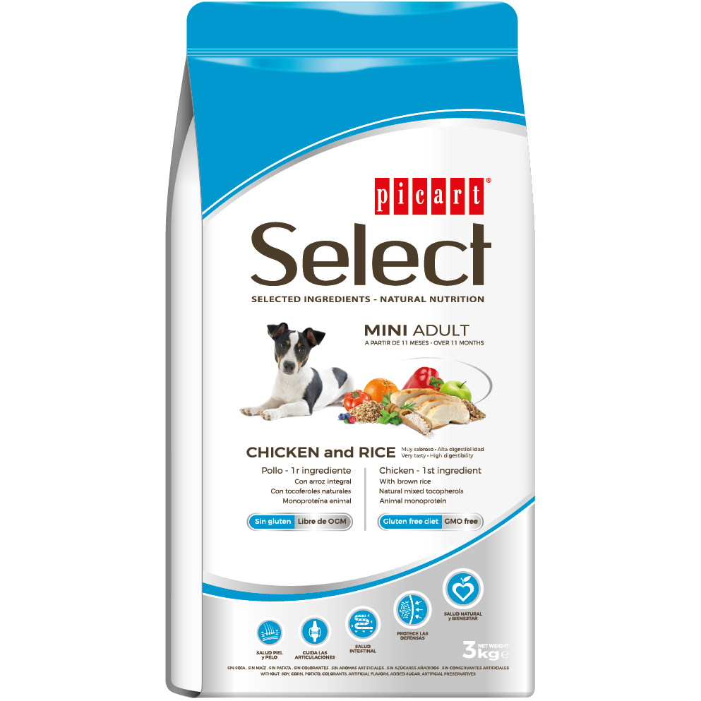 Picart Select Mini Adult Chicken & Rice 3kg