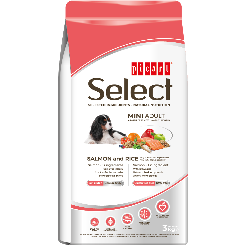Picart Select Mini Adult Salmon & Rice 3kg
